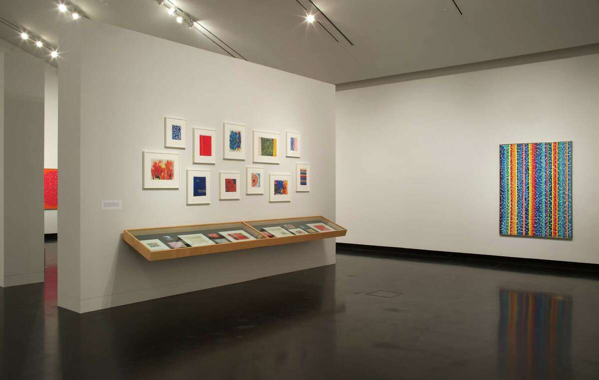 """Installation view of """"Alma Thomas"""" at the Frances Young Tang Teaching Museum and Art Gallery at Skidmore College, February 6 through June 5, 2016. Tang Teaching Museum photograph by Arthur Evans"""