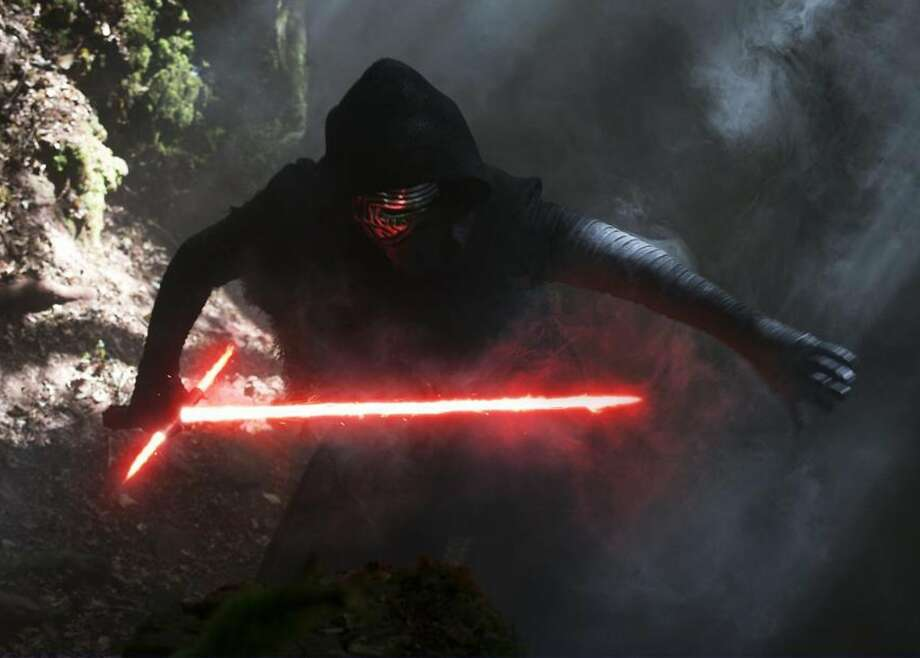 """The unkindest cut - """"Star Wars: Episode VII - The Force Awakens"""" was rated more highly on Rotten Tomatoes than most of the best-picture nominees, but not only was it not among those in the running for the big prize; it got shut out Oscar night. Don't tell Kylo Ren. He has anger issues. Photo courtesy Lucasfilm Ltd. and Walt Disney Studios. Photo: Disney / Lucasfilm"""