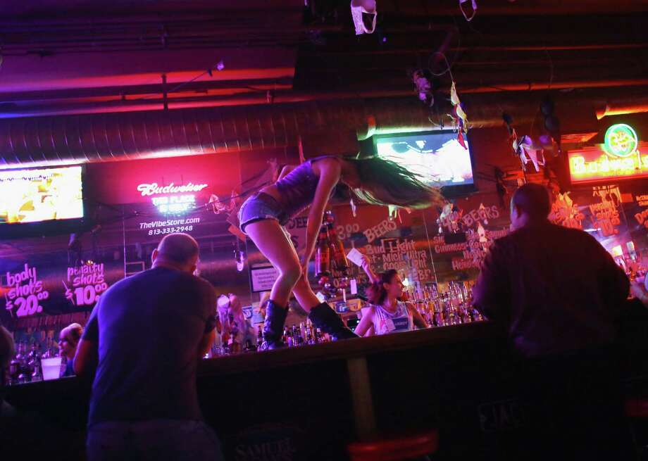 20. Coyote Ugly SaloonGross alcohol sales: $227,672Click through the slideshow to see which prominent hotels, bars and restaurants were among the Bexar County businesses with the highest total drink sales in April, totaling about $51.8 million, according to mixed beverage receipts from the Texas comptroller's office. Photo: Joe Raedle, Getty Images / 2012 Getty Images