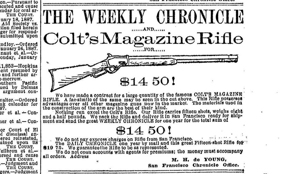 The Daily Chronicle's ad for a rifle in the early days.