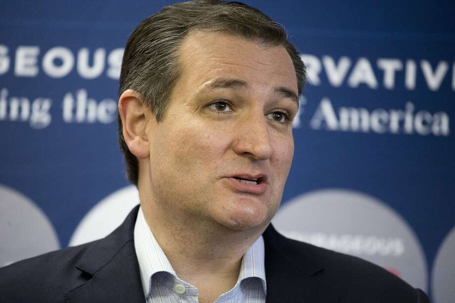 Republican presidential candidate Sen. Ted Cruz, R-Texas, speaks to members of the media before a campaign appearance, Monday, Feb. 29, 2016, in San Antonio. (AP Photo/Darren Abate) Photo: Darren Abate, Associated Press