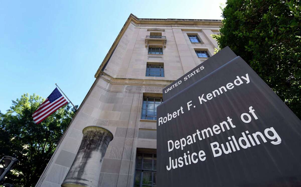 The view of the Justice Department in Washington, Thursday, Aug. 27, 2015.
