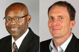 Houston Chronicle sports columnists Jerome Solomon (left) and Brian T. Smith were voted among the nation's top 10 in 2015 by the Associated Press Sports Editors.