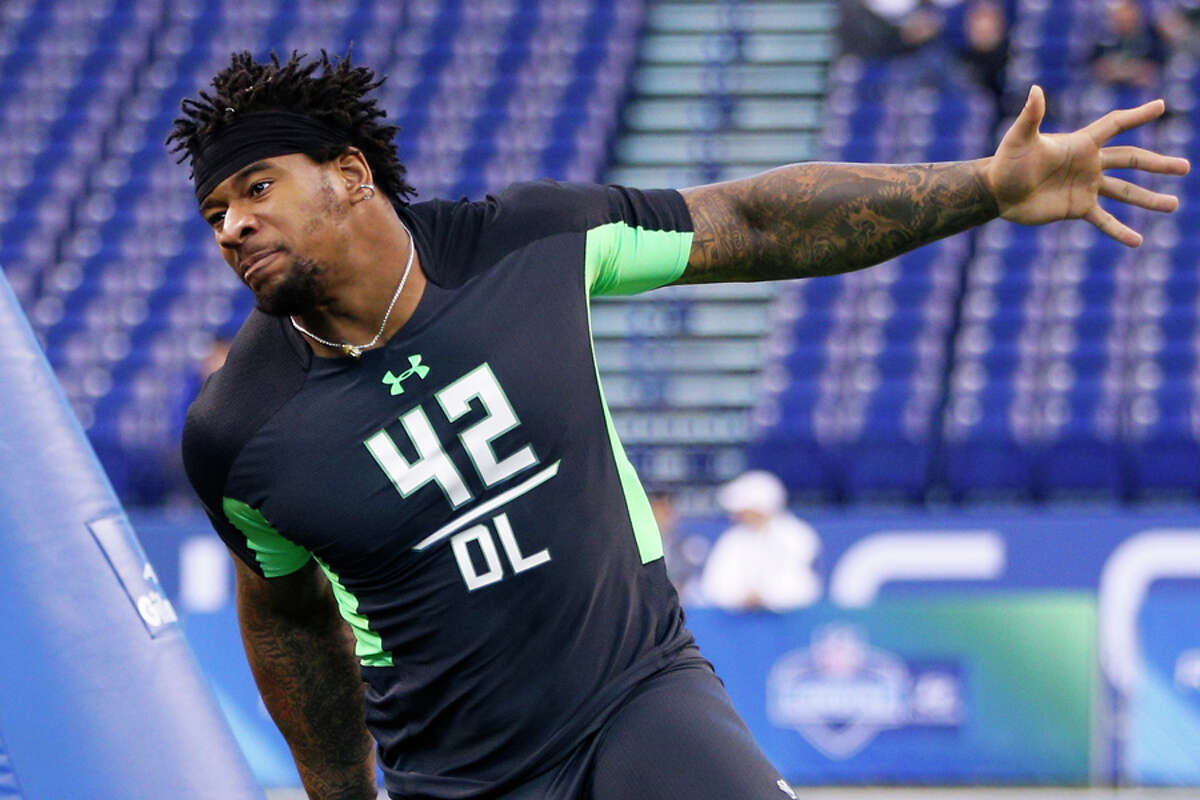 DE/DT Robert Nkemdiche, Ole Misshttp://walterfootball.com/mocks/publishedmock/49206 Notes: The Seahawks' pass rush undoubtedly took a step back last season. Taking Nkemdiche in the first round would both give them a capable run-stopper and take some pressure off Frank Clark as he looks to build on a passable rookie season. Nkemdiche's interviews at the NFL combine apparently didn't go all that well, and his stats at Ole Miss weren't that impressive, but the Seahawks have made a habit of taking unpolished players with tons of talent and turning them into stars.