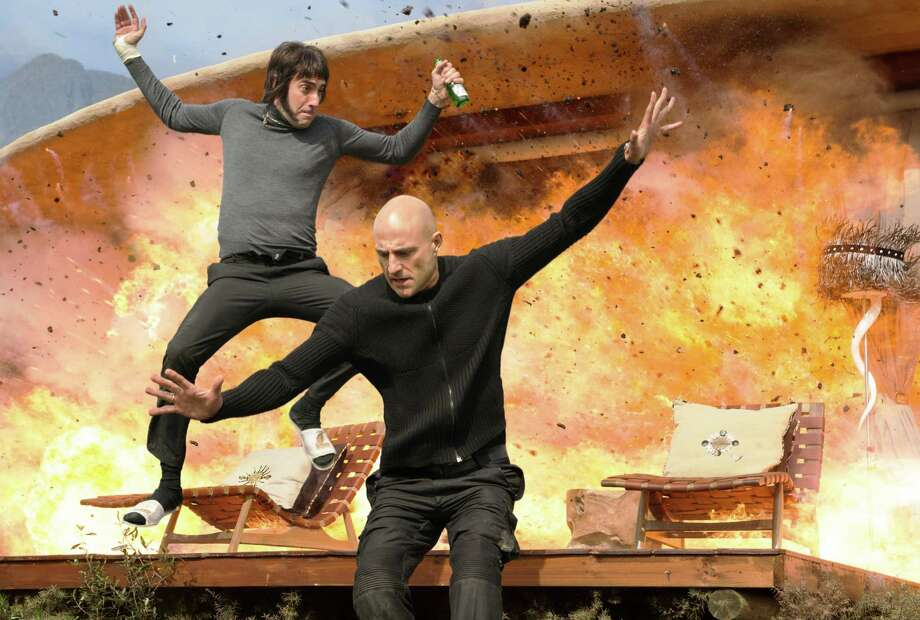 """Sacha Baron Cohen (left) and Mark Strong star in """"The Brothers Grimsby."""" Photo: Columbia Pictures / ©2014 CTMG, Inc. All Rights Reserved. **ALL IMAGES ARE PROPERTY OF SONY PICTURES ENTERTAINMENT INC. FOR PROMOTIONAL USE ONLY."""