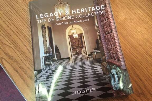 Catalog for sale of furnishings of de Guigne estate in Hillsborough.