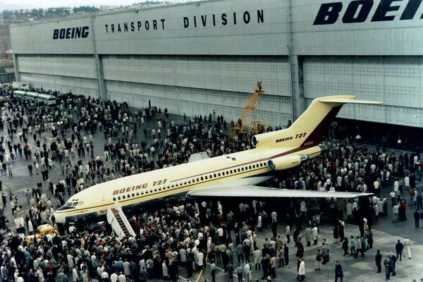 The Boeing 727-100, N7001U was rolled out in 1962. The plane would make its first flight in 1963 and for the next 28 years log more than 64,000 hours flying roughly three million passengers for United Air Lines. Photo courtesy Boeing.