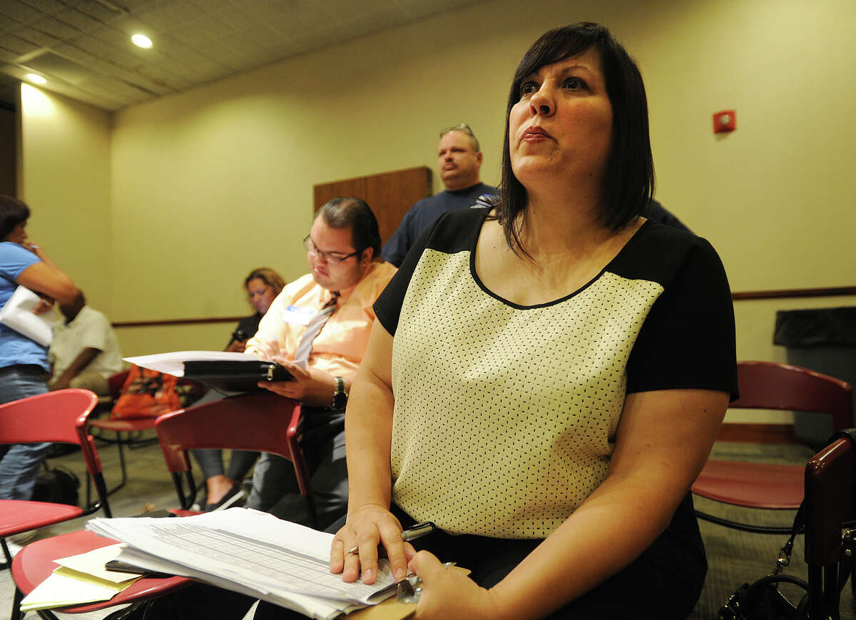 Bridgeport Board of Education candidate Maria Pereira attends the recount of results from a primary at the Margaret Morton Government Center in Bridgeport, Conn. on Wednesday, September 23, 2015.