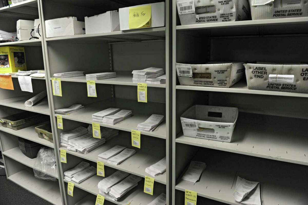 Room where absentee ballots for the general election are stored at the Albany County Board of Elections on Monday, Nov. 3, 2014, in Albany, N.Y. (Lori Van Buren / Times Union archive