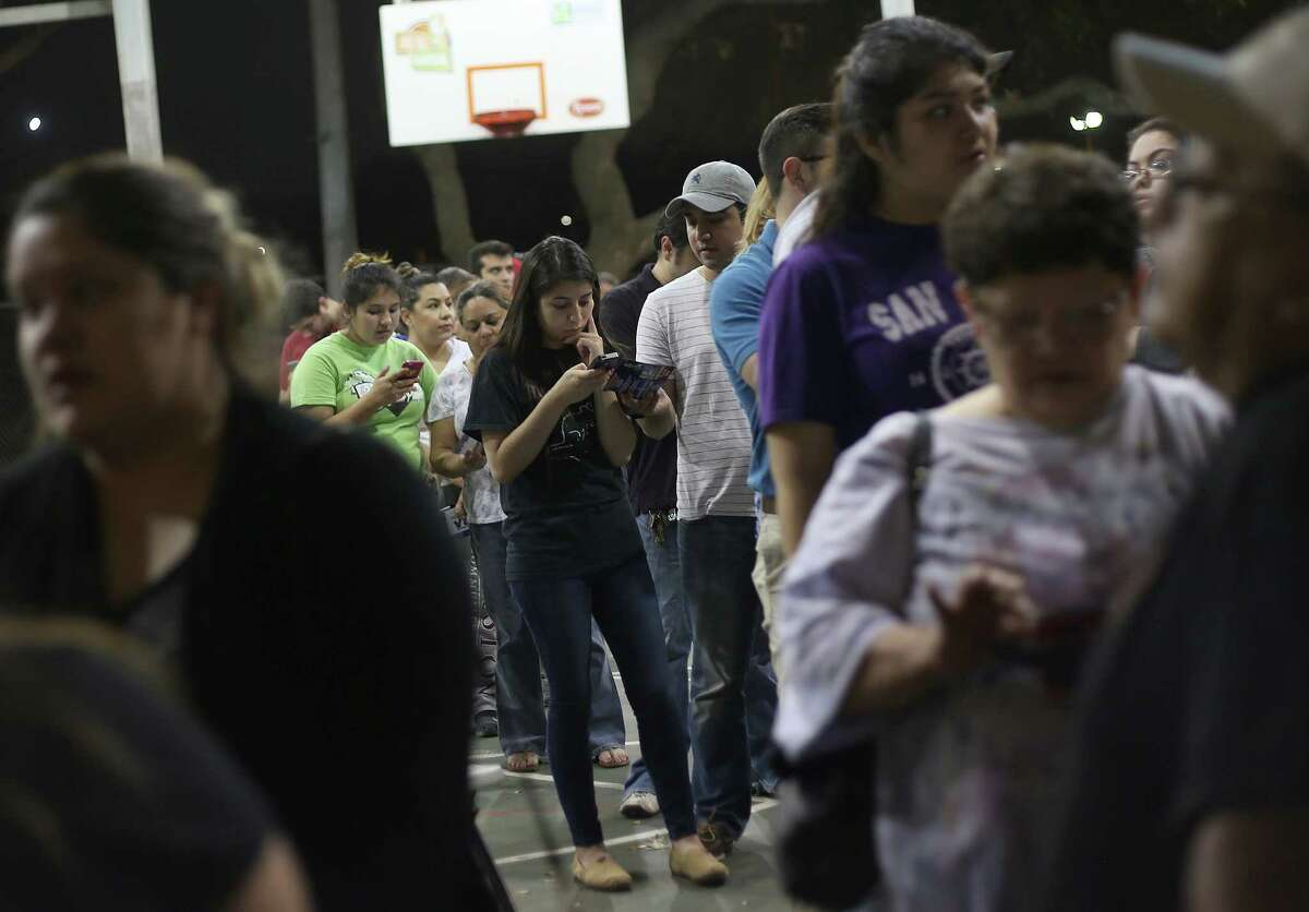 Voters found long lines Tuesday at De Zavala Community Center, where 26 still were waiting at 10:30 p.m.