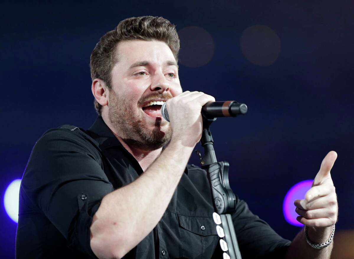 Chris Young performs at the Houston Livestock Show and Rodeo on Wednesday.