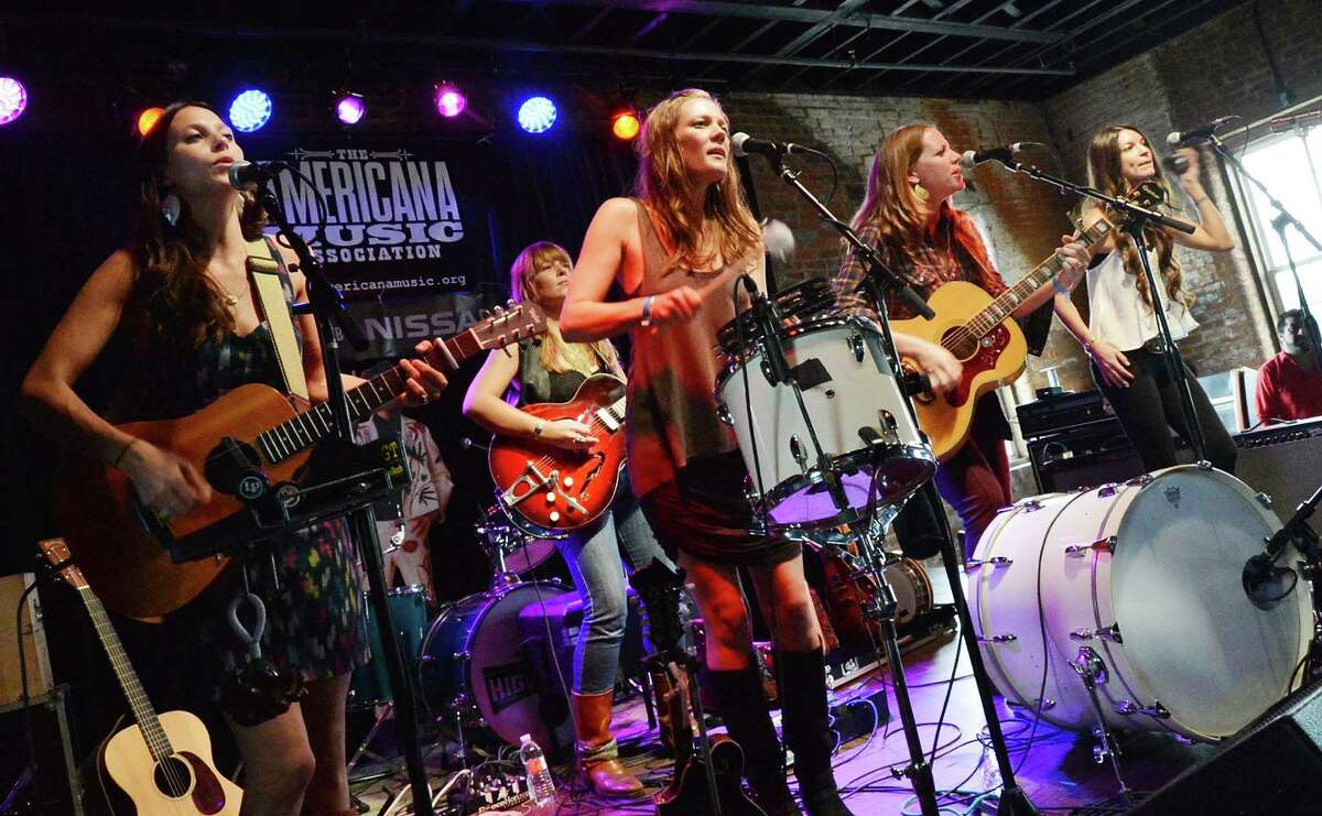 NASHVILLE, TN - SEPTEMBER 15: Lone Star Music Magizine Party: The Trishas perform at The High Watt as part of the 2012 Americana Music Festival on September 15, 2012 in Nashville, Tennessee. (Photo by Rick Diamond/Getty Images)