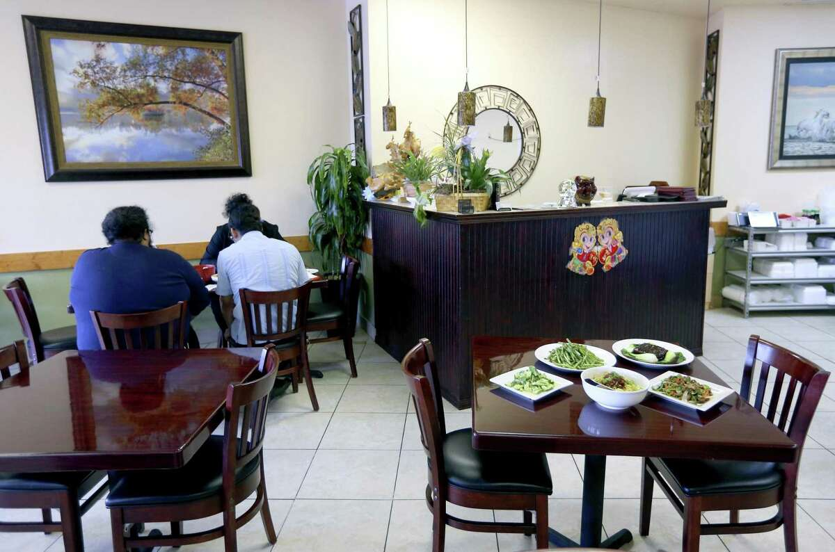 The interior of Sichuan House restaurant