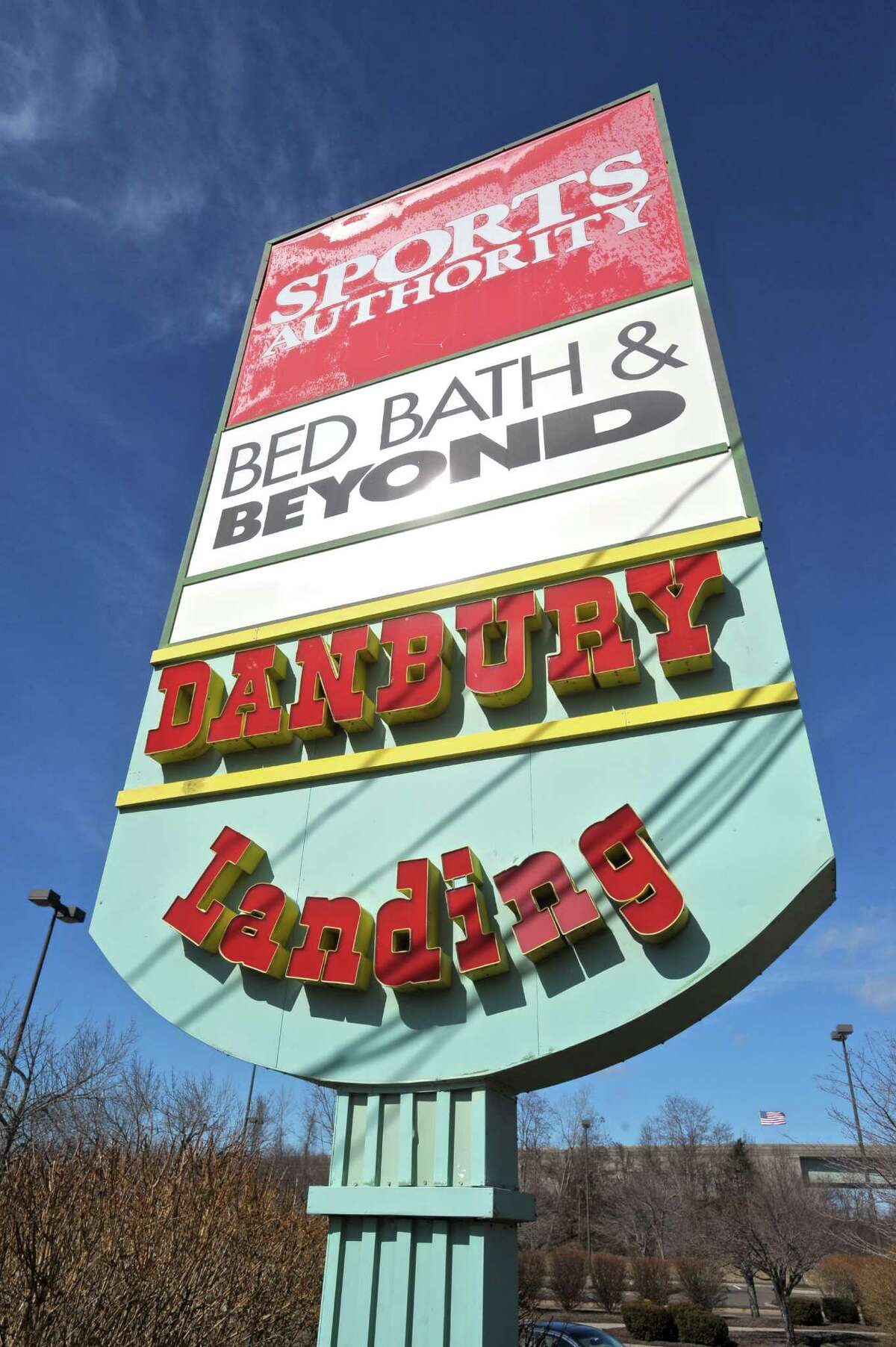The Sports Authority and Bed Bath & Beyond are in the Danbury Landing shopping center, 13 Sugar Hollow Road, Danbury, Conn, Wednesday, March 2, 2016.