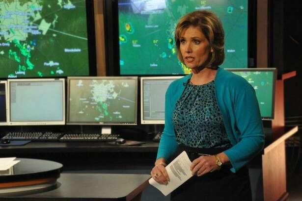 KENS anchor Deborah Knapp celebrated a victory at 4 p.m. and a boost to No. 1 at 5 p.m.