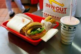 An order is seen during the grand opening Thursday Nov. 20, 2014 of San Antonio's first In-N-Out Burger. The store, located on Culebra just outside Loop 1604, opened at 9 a.m. because of the large crowds of people already in line for the store's normal 10 a.m. opening.