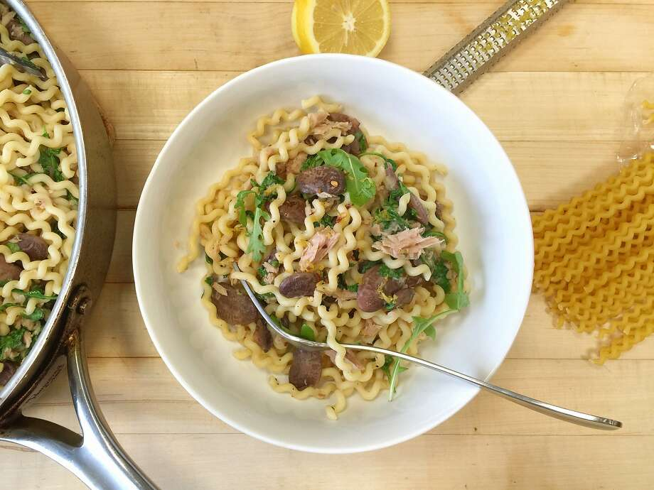 Pasta With Beans, Tuna & Arugula Photo: Amanda Gold
