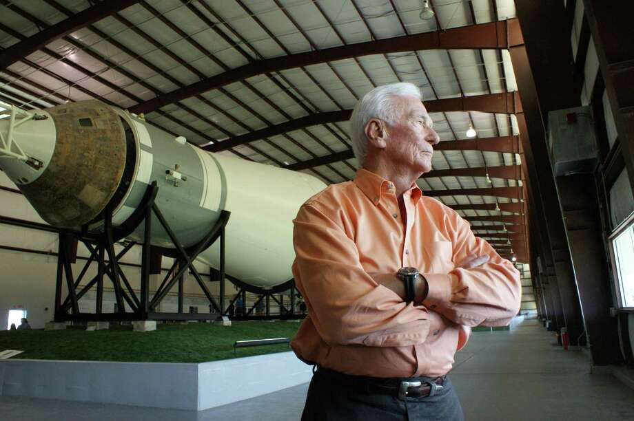 Gene Cernan at the Johnson Space Center in Houston, Texas. (Mark Craig) Photo: Mark Craig, HO / TNS