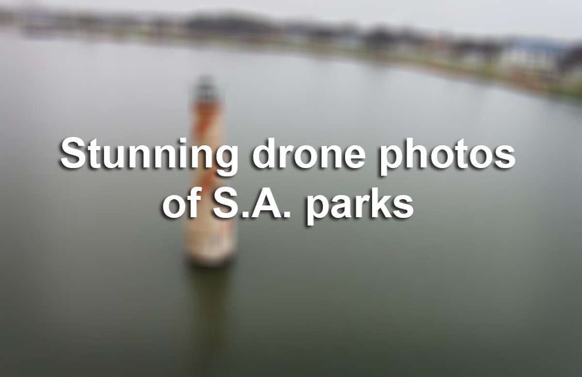 Click ahead to see some of the stunning photos taken by a drone flying over San Antonio parks.