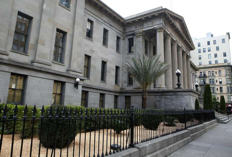 The historic San Francisco Mint has its landscaping finished along Fifth Street in San Francisco, Calif., on Thursday March 3, 2016. Photo: Brittany Murphy Brittany Murphy, The Chronicle