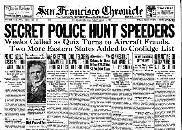 Chronicle Covers: When secret SFPD force hunted speeders