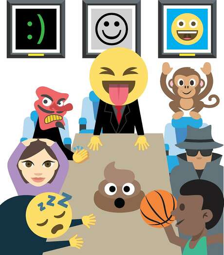 Emojis have become so popular that companies have recognized the symbols as big marketing opportunities. Kit Kat, for example, wants a Kit Kat emoji. But who decides these things? As it turns out, a group known as Unicode Consortium, dominated by white male executives from Silicon Valley, determines what should be an emoji and what doesnt. Illustration by Christopher T. Fong / The Chronicle and Emoji One Photo: Christopher T. Fong, The Chronicle
