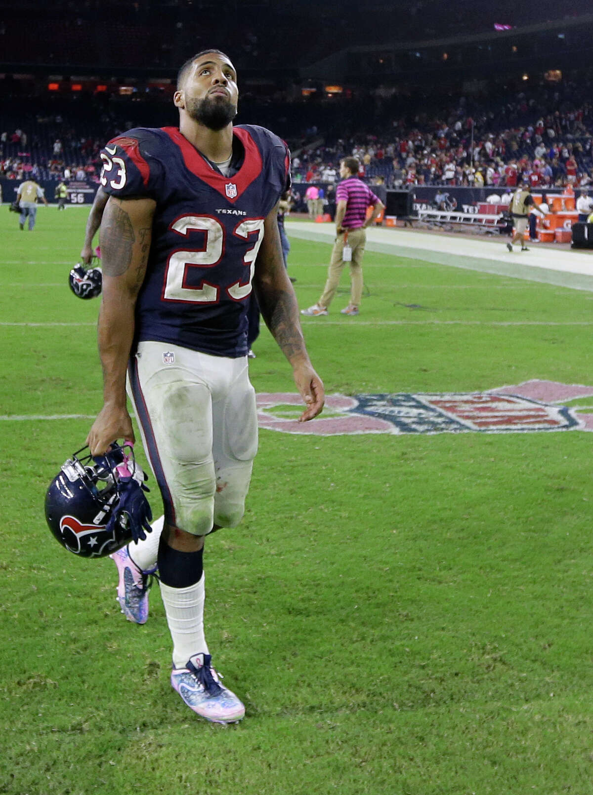 Arian Foster The former Houston Texans running back came out as an atheist in 2015 and shortly thereafter suffered a season-ending injury. Some alleged Christians mocked him.