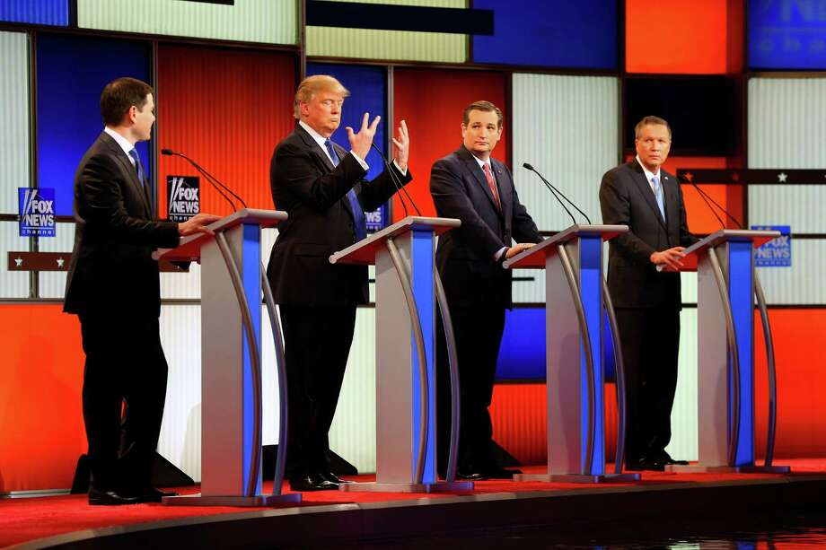 Debate day: Trump's ready for Rubio, Cruz to bring it on