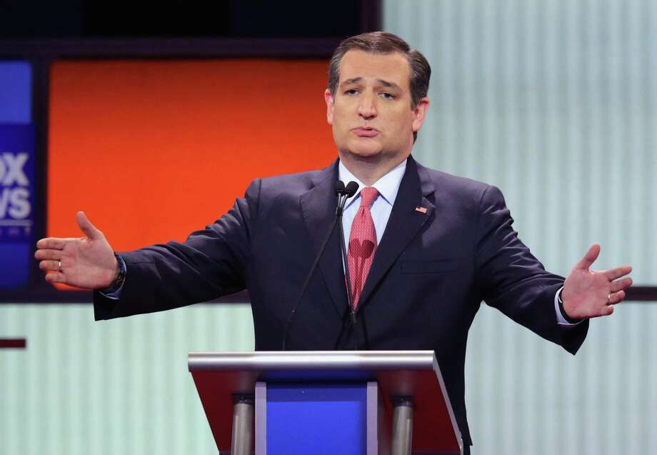 Former Republican presidential candidate Sen. Ted Cruz - shown here in a March debate - defended Trump's controversial call with Taiwan.  Photo: Chip Somodevilla, Getty Images / 2016 Getty Images