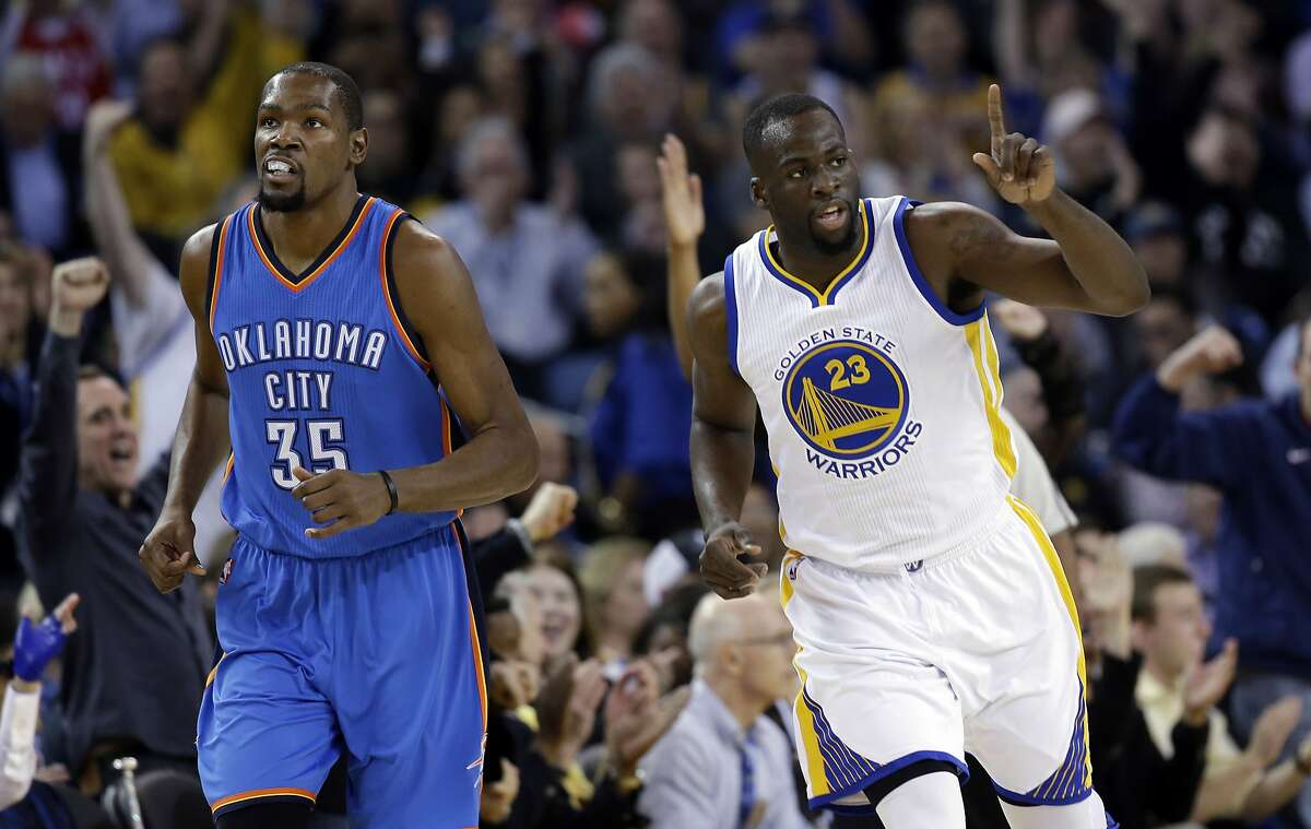Timeline of the Draymond Green and Kevin Durant drama May 2016: Durant and Green face each other in the Western Conference Finals, with Durant a member of the Oklahoma City Thunder. NBA insider Adrian Wojnarowski reported that Durant angered his Thunder teammates after spending time with Green off the court during the series. It would be Durant's last appearance with the Thunder.