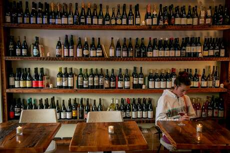The wine selection at Ordinaire wine bar in Oakland. Photo: John Storey, Special To The Chronicle