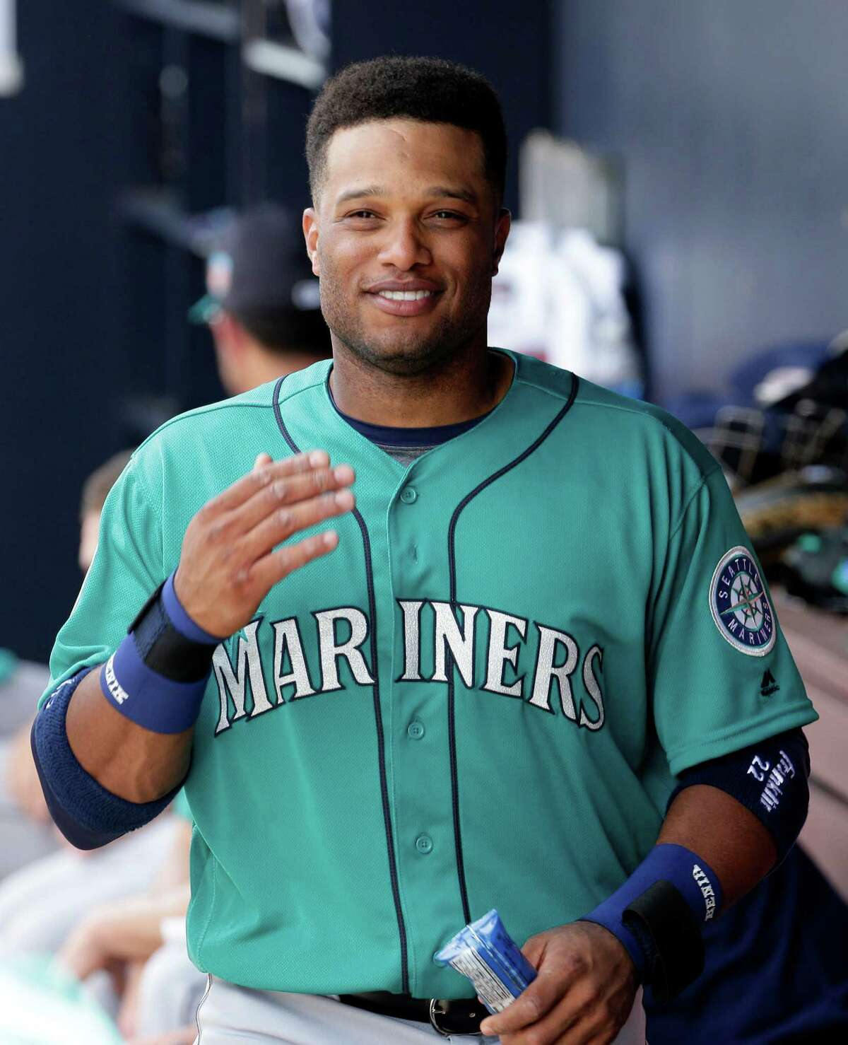 Seattle Mariners Robinson Cano during the second inning of a spring training baseball game against the San Diego Padres Thursday, March 3, 2016, in Peoria, Arizona.