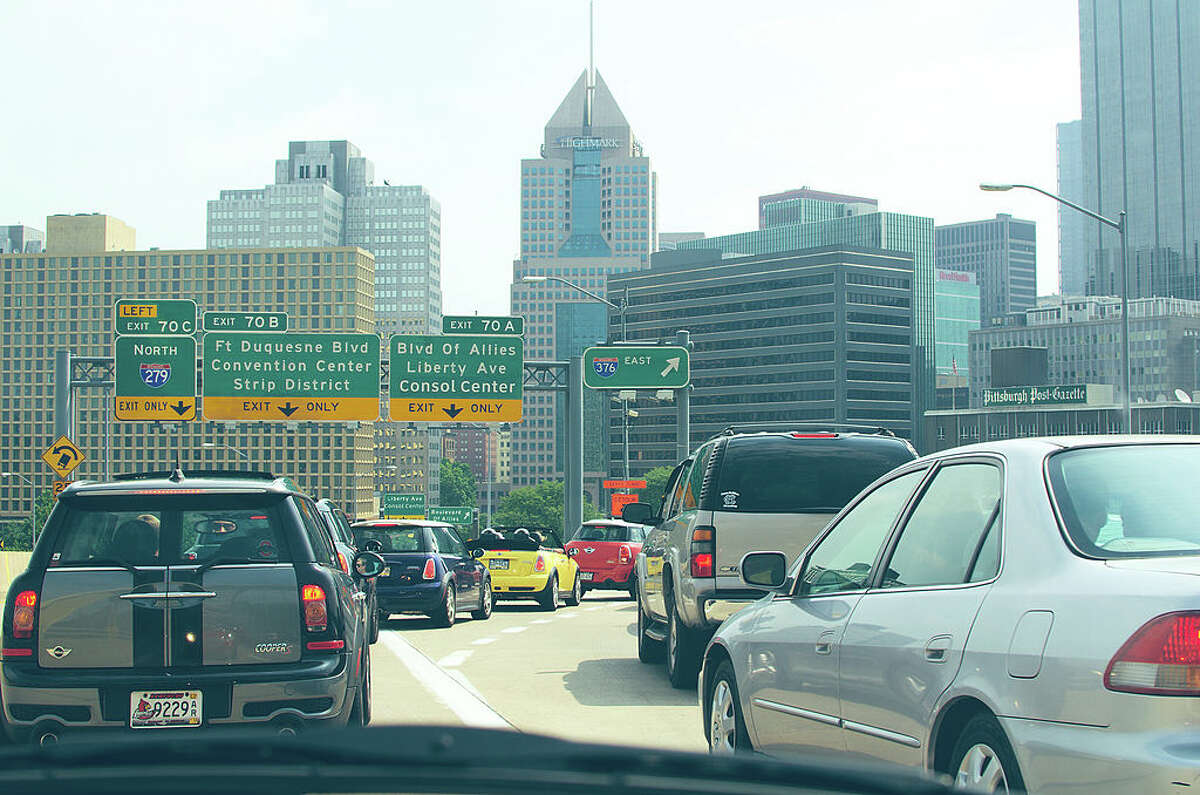 23. Pittsburgh Number of congestion hotspots: 2,744 Estimated total cost of congestion by 2026: $4.1 billion Worst hotspot: Lincoln Highway East at Fort Pitt Tunnel to Settlers Ridge