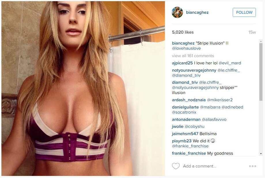 Model Bianca Ghezzi was reportedly seen in Bed with football player Johnny Manziel in Miami, shortly after another video surfaced of him partying. Photo: Instagram, Courtesy