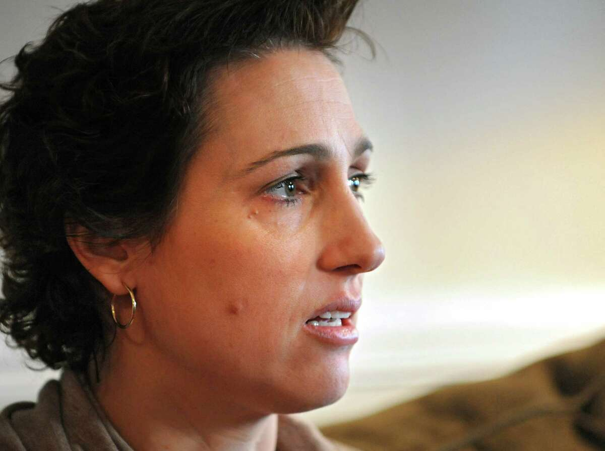 Laura Greco, who discovered she had lung cancer after a hospital scan following a car accident, talks about her ordeal at her home on Monday, Jan. 18, 2016 in Wilton, N.Y. (Lori Van Buren / Times Union)