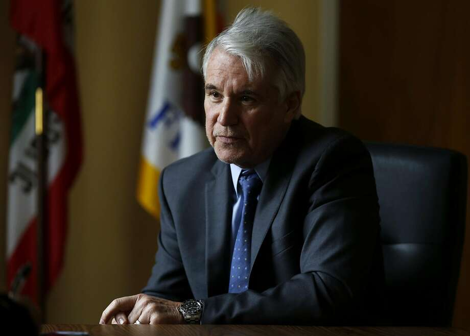 District Attorney George Gascon in his office at the Hall of Justice in San Francisco, California, on Thursday, March 3, 2016. Photo: Connor Radnovich, The Chronicle