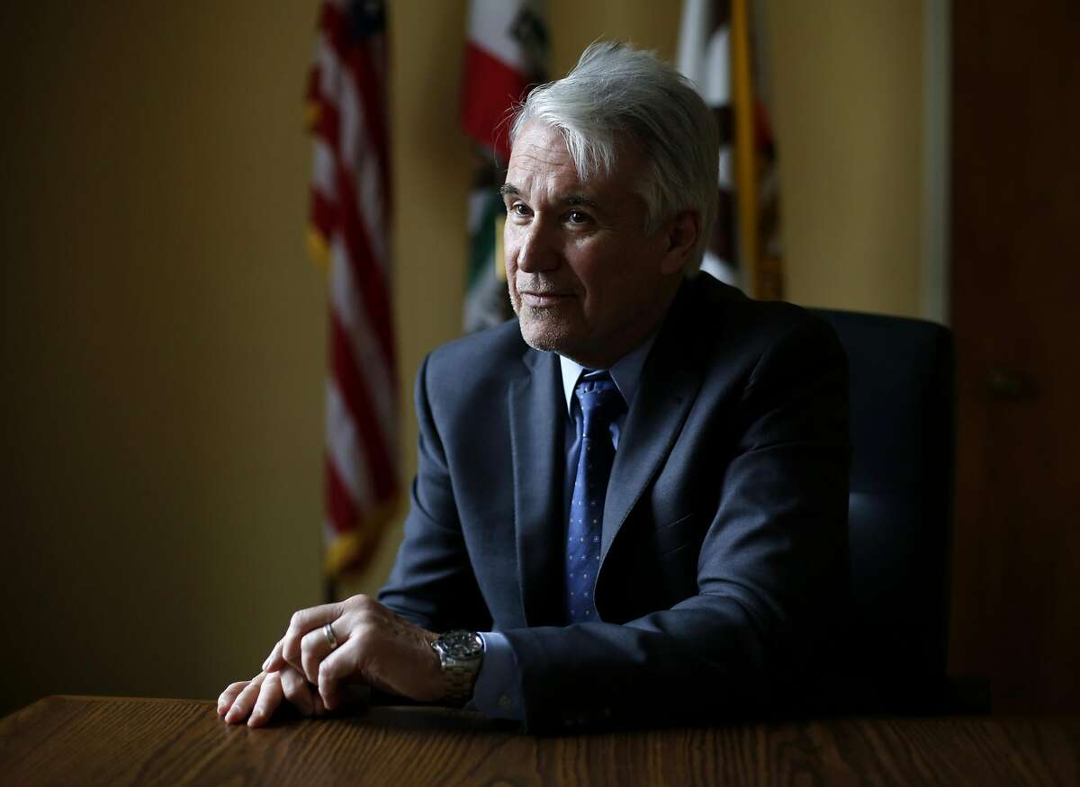 District Attorney George Gascon in his office at the Hall of Justice in San Francisco, California, on Thursday, March 3, 2016.