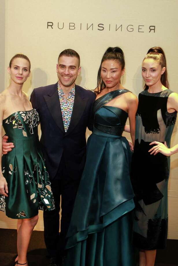 Designer Rubin Singer with models after his fashion show. Photo: Gary Fountain, Gary Fountain/For The Chronicle / Copyright 2016 Gary Fountain
