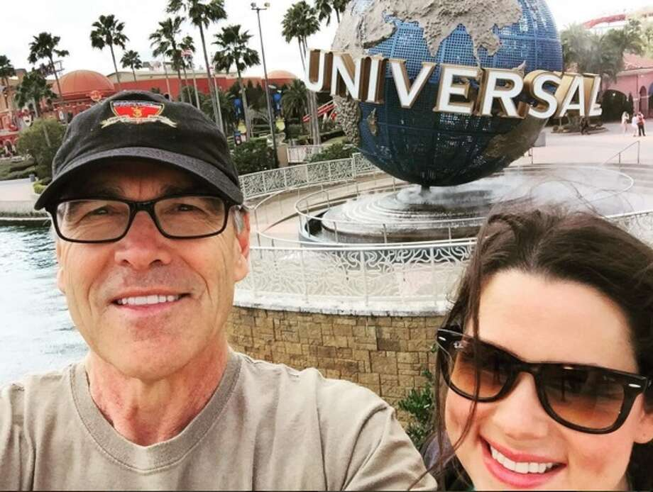 Sydney and Rick Perry during a father/daughter trip to Orlando, Florida in February 2016. Photo: Instagram/GovernorPerry