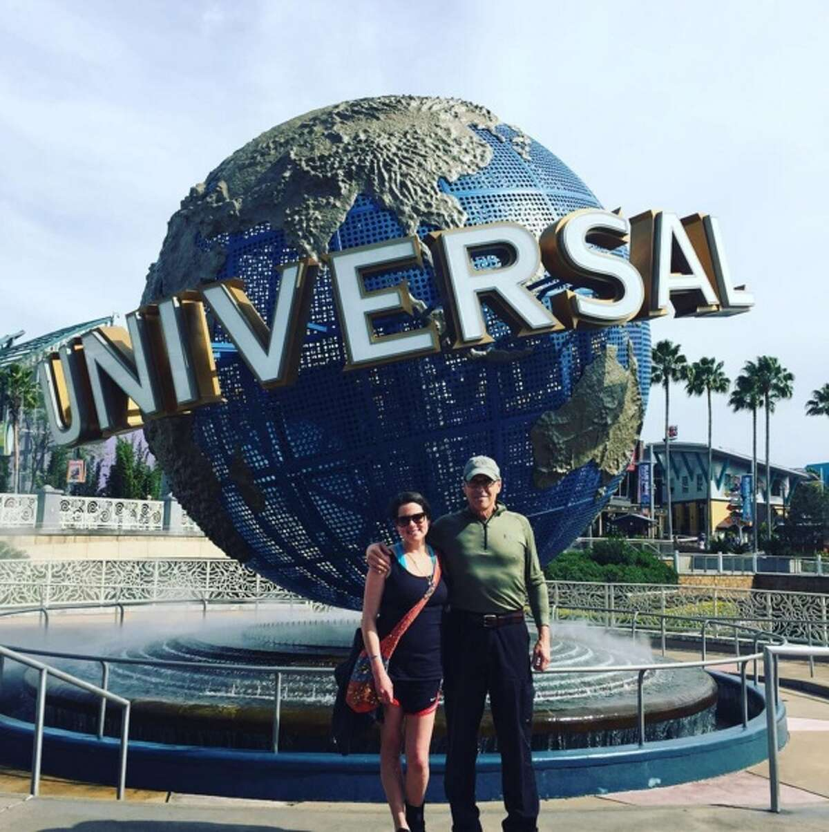 Sydney and Rick Perry during a father/daughter trip to Orlando, Florida in February 2016.