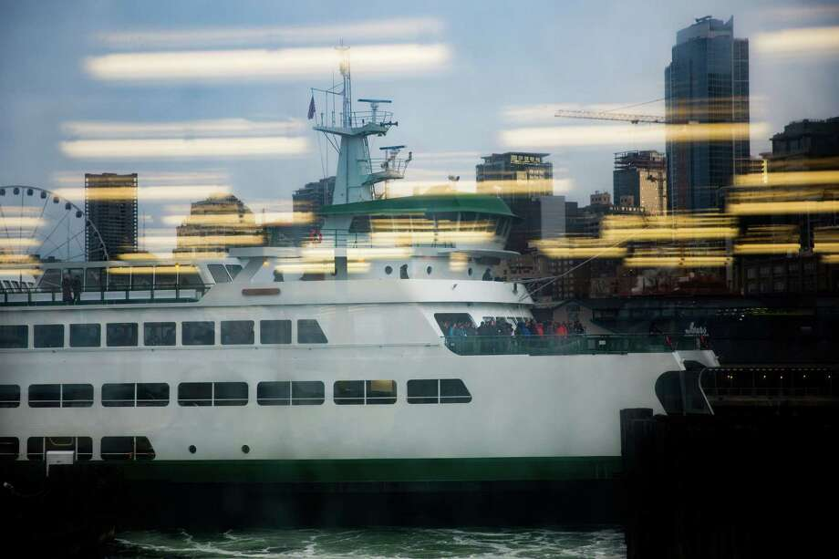 The M/V Wenatchee pulls into Seattle, Friday, March 4, 2016. Photo: GRANT HINDSLEY, SEATTLEPI.COM / SEATTLEPI.COM
