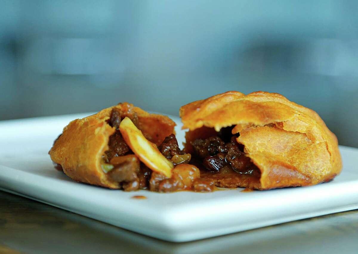 Saltena de Carne at Andes Cafe
