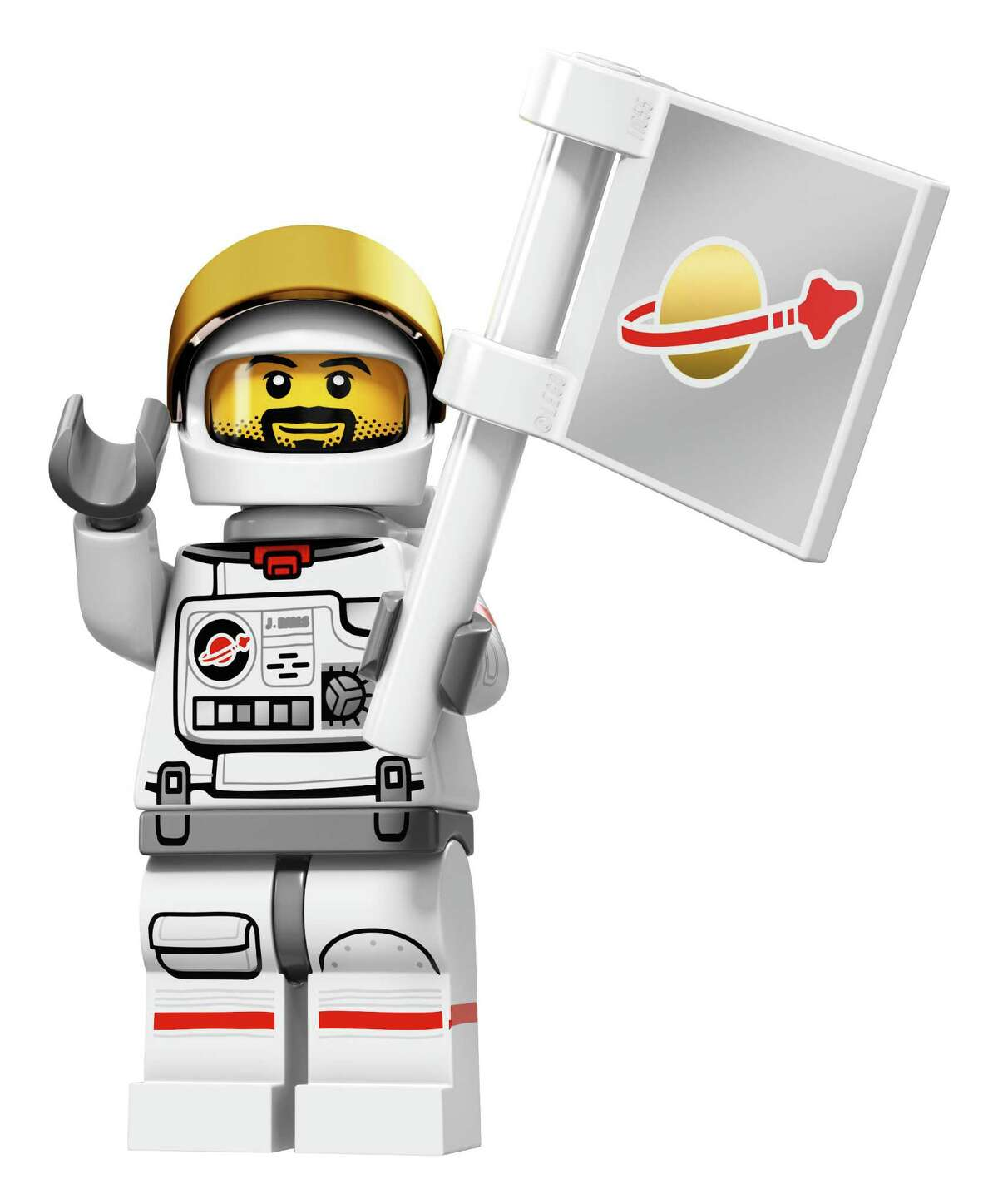 Astronaut . This astronaut is obsessed with space and ready for his first trip to a new planet. Complete with a flag and long beard.