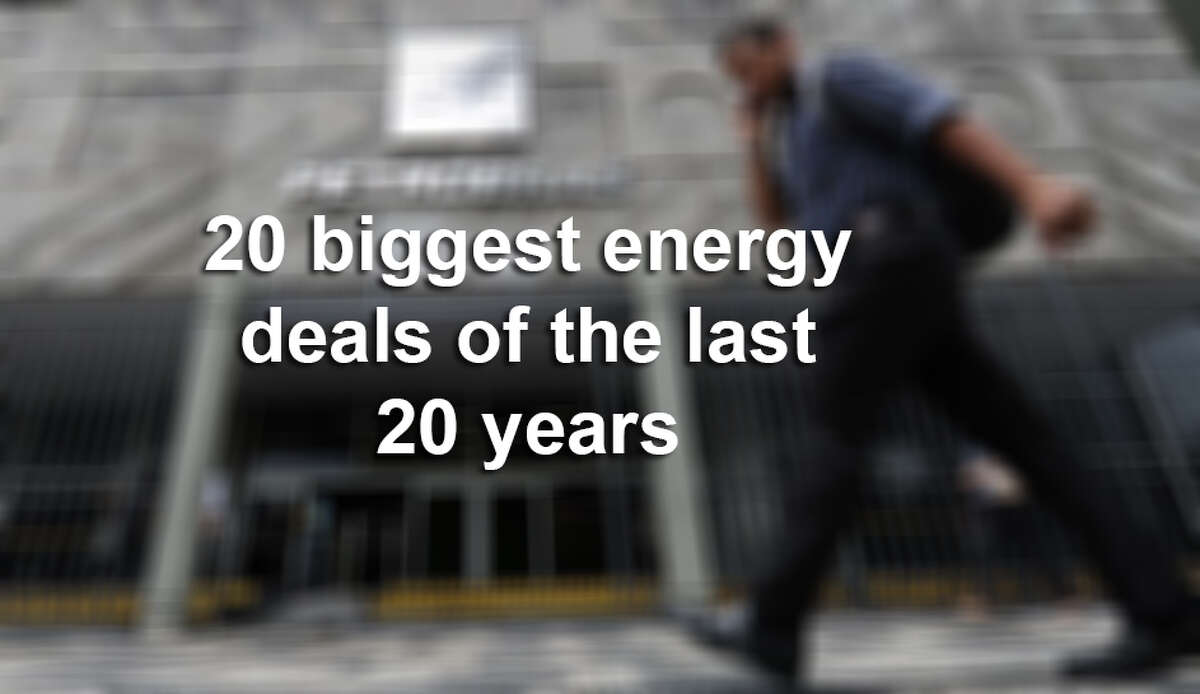 Click ahead to learn about the 20 biggest energy deals over the last 20 years.