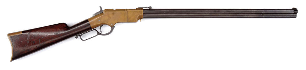Bill Stewart's Collection contains one of the first Winchester rifles ever made. This Civil War era Henry Model 1860 Lever Action rifle is estimated to bring $20,000-35,000.