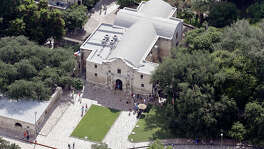 A view of the Alamo Thursday July 16, 2015.
