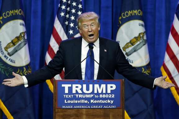 Trump along the campaign trail, open-mouth mask would allow speech