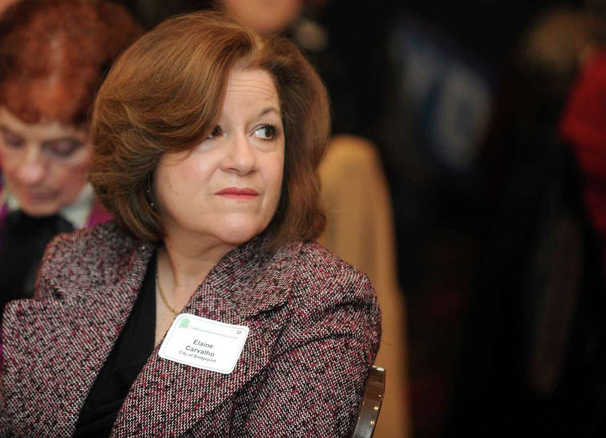 Tax Assessor Elaine Carvalho attends Mayor Bill Finch's annual state-of-the-city address in 2014.