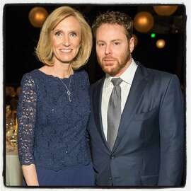 Dr. Kari Nadeau and tech titan Sean Parker at Pier 35 where the were honored at the CPMC 2020 Gala. Feb 2016. By Drew Altizer.