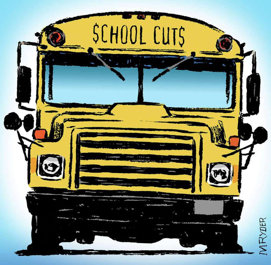 This artwork by M. Ryder relates to cuts in funding for public schools. Photo: / M. Ryder